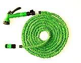 AquaBLADE Gartenschlauch Dehnschlauch 5 m, dehnbar bis 15 m, max. 8,5 bar, Grün inkl. Multifunktionsbrause mit 8 nützlichen Sprühfunktionen - Wasserschlauch