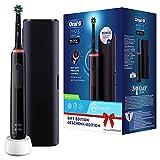 Oral-B Pro 3-3500 - Spazzolino Elettrico Nero, 1 Spazzolino Con Sensore Di Pressione Dello Spazzolamento Visibile, 1 Testina, 1 Custodia Da Viaggio