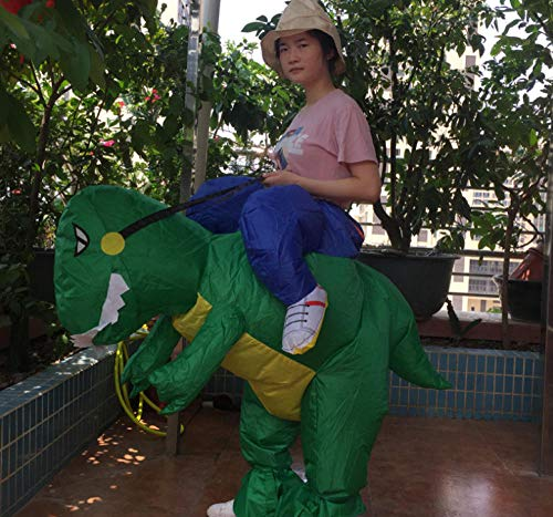 Dengjiam Ropa Inflable Disfraz de Dinosaurio Realista de Halloween Fiesta de Disfraces de Dinosaurio para niños Disfraz deDinosaurio Inflable para Adultos