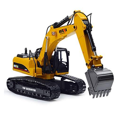 T.YcR Toy Excavadora Profesional de Control Remoto para niños y Adultos Modelo 1:14 2.4G Aleación Completa 23CH Metal Fundido a presión Camión Excavadora hidráulica RC función Humo