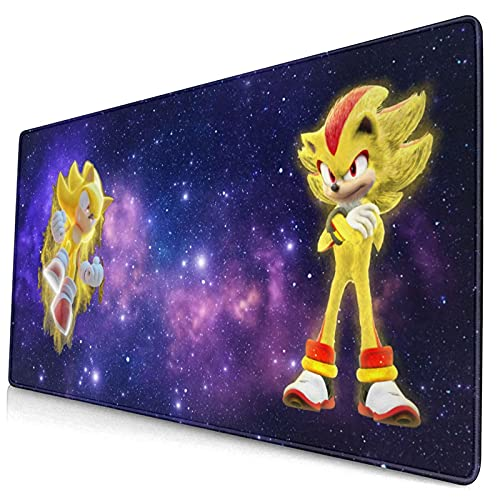 Sonic-Hedgehog 3D Print Large Multi-Color Non-Slip Waterproof Mouse Gaming Pad for Gaming