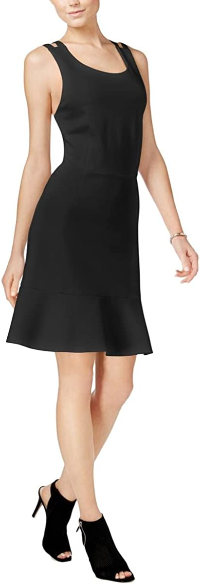 bar III Womens Crisscross Shift Dress