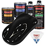 Restoration Shop - Jet Black Urethane Basecoat with Clearcoat Auto Paint - Complete Medium Quart Paint Kit - Professional High Gloss Automotive, Car, Truck Refinish Coating