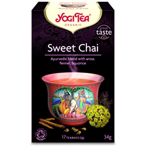 YOGI TEAS - AYURVEDIC Organic Sweet Chai Tea 17bags (PACK OF 1)