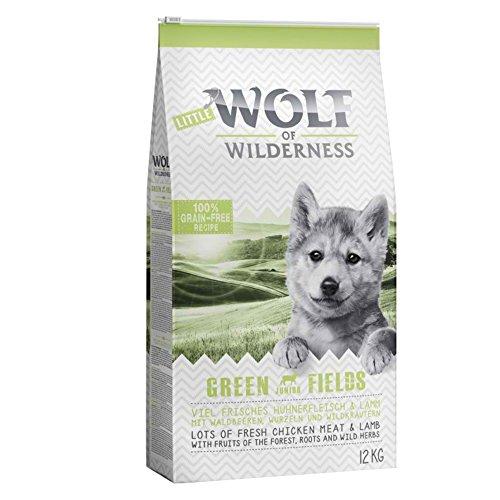 Wolf of Wilderness Green Fields Junior Trockenfutter für Hunde mit Lamm und Huhn (12 kg)