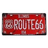 MS Route 66 - Placa decorativa de metal con diseño de hojalata, inscripción Route 66, CJ574-C