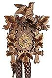 Original Schwarzwälder Kuckucksuhr aus Echtholz, mechanisches 8-Tage Laufwerk und VDS Zertifikat - Angebot von Uhren-Park Eble - Eble -Fünflaub 38cm- 38-01-12-80