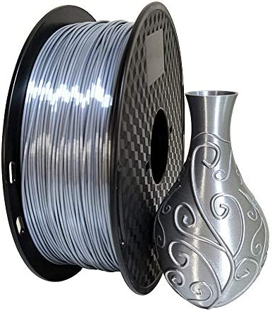 Shiny Silk Silver PLA Filament 1 75mm 3D Printer Filament 0 5KG Shiny Metallic Metal Silky Shine product image