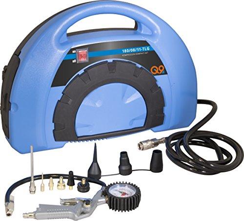 Güde 50121 Kompressor-Kompakt-Set- 180/08/11-tlg (1,1 kW, 110L/min Liefermenge, 8 bar maximum Druck, 8tlg Adapter-Set)