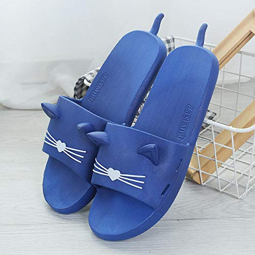 LNLJ Füße Reflexzonen-Sandalen, Badeschuhe für Männer und Frauen, rutschfeste Sandalen cat-bleu_44 / 45, Reflexzonen-Sandalen