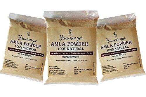 yauvanya Pure Amla (indio Color Grosella) en polvo para el cabello 3x 100G