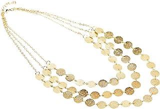 LnLyin - Collar multicapa para mujer con cadena talla única dorado