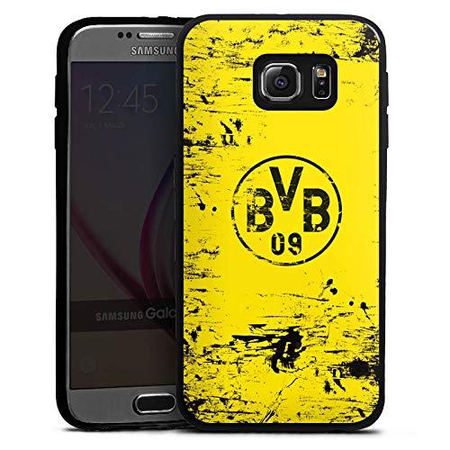 DeinDesign Slim Case Silikon Hülle Ultra Dünn Schutzhülle kompatibel mit Samsung Galaxy S6 Borussia Dortmund BVB Fanartikel