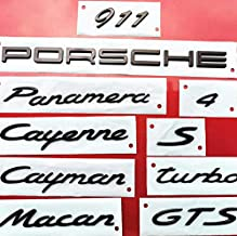 GLOSS BLACK Pack of 1 911 LETTERS Emblem Badge 3D Replacement For 991 GT3RS 911 GT2 MACAN TAYCAN PANAMERA ETC Decal Sticker Fender Trunk RENGVO Rear Tailgate
