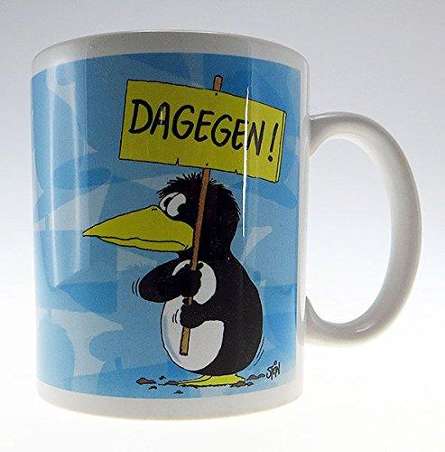 Uli Stein Pinguin Tasse - Dagegen - Geschenkidee