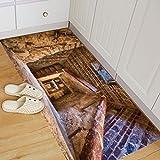 Wandaufkleber,Abnehmbare 3D Boden Aufkleber Wandbild Wohnzimmer Home Decor Moginp (C)