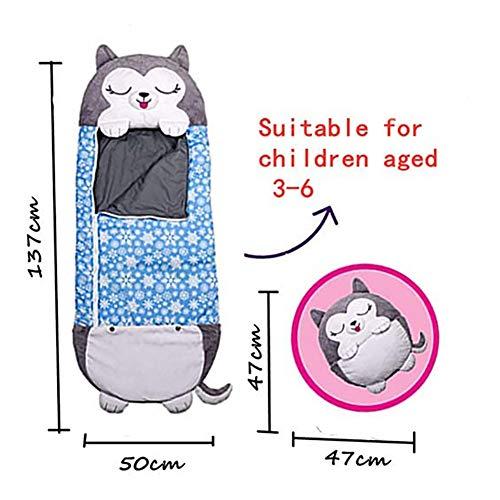 TTZZ One-piece Kids Animal Sleeping Bag2 IN 1 CartoonNap Pillowwith 8 Styles Foldable Washable Comfy Fun Soft Sleeping Bag for 3-6yrs,G