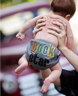 ラゲッドバッツ ラッフルバッツ 男の子 ブルマ オムツカバー 12-18M Gray 'Rock Star' Knit Bloomer