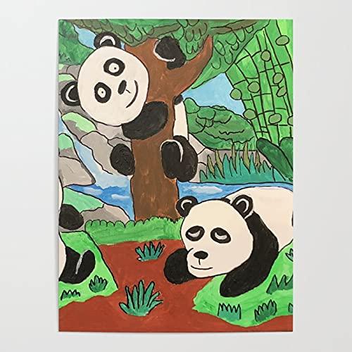 Beaxqb Pintar por Numeros Adultos, Panda Travieso DIY Pintura por números con Pinceles y Pinturas Decoraciones para el Hogar Lienzo Regalo de Pintura para 40x50cmSin Marco