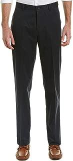 Brooks Brothers Mens Pleated Stretch 346 Herringbone Cuffed Hem Dress Pants Navy Blue 34W x 33L