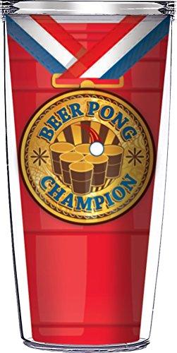 Beer Pong Champion Tumbler Tasse mit Deckel, plastik, mehrfarbig, 16 Ounce