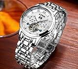 LIGE Herren Uhr Analog Automatik mit Edelstahl Armband 9841 - 3