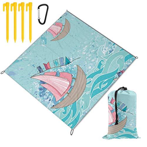 Great Price! Hucuery Picnic Blanket 59 X 57 in Sea Seamless Pattern (5) Foldable Waterproof Extra La...