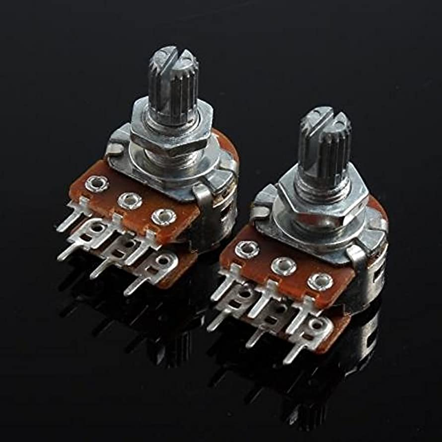 UXOXAS WH148 Double Union Potentiometer 6 Pins Long Handle 15mm - 10K (2pcs)