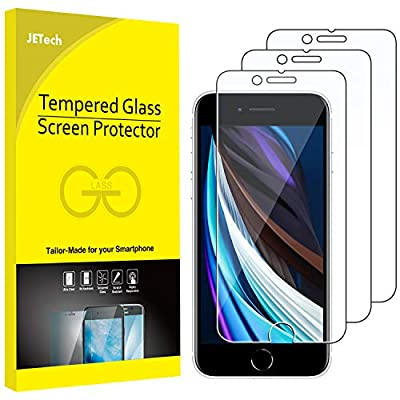 JETech Screen Protector for Apple iPhone SE 2020, 4.7-Inch, Tempered Glass Film, 3-Pack by JETech