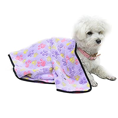 EXPAWLORER Pet Blanket for Small Cats & Dogs Thick