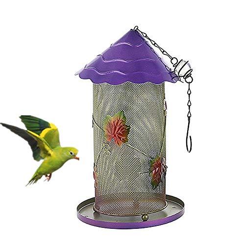 Shulishishop Mangeoire Oiseaux Exterieur Mangeoire Oiseaux Exterieur Suspendue Peckish Bird Feeder Small Bird Feeders for The Garden Robin Bird Feeder Purple