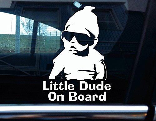 Turnerco 'Vinyle Stickers pour, Inscription Little Dude on Board