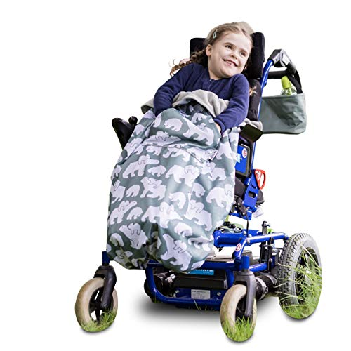 Saco infantil para sillas de ruedas y cochecitos pediátricos (Oso Polar)
