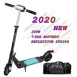 Patinete Eléctrico Kugoo S1 Pro E-Scooter de 350 vatios y 30 km con 30 km/h Velocidad máxima e-Scooter Plegable para Adolescentes Y Adultos con Pantalla LCD (Negro)