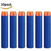 StillCool Nerf Darts, 50 Stück 7.2cm Foam Darts Pfeile Patronen Nachfüllpack Darts für Nerf N-Strike Elite Series Blasters Spielzeugpistole (Darkblau, 50)