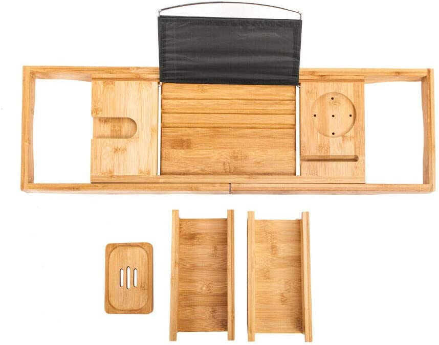 LEGENDARY-YES お気にいる Selected Bamboo Bathtub Caddy Packed Featu 12 直営店 Tray