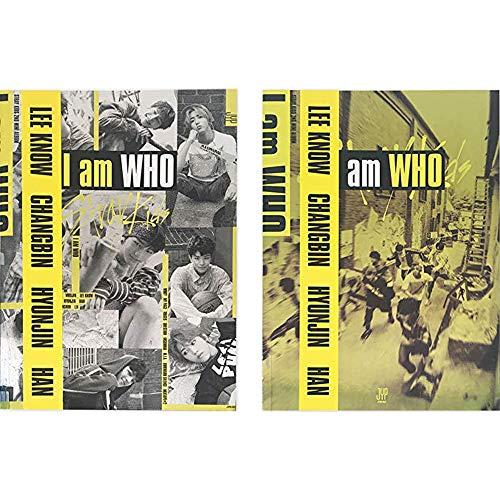 STRAY KIDS I am Who (I am+Who Version Set) 2nd Mini Album 2 CDs+2 Photobooks+6 QR Photocards+2 Lyrics Posters+(Extra 4 Photocards and 1 Double-Sided Photocard Set)