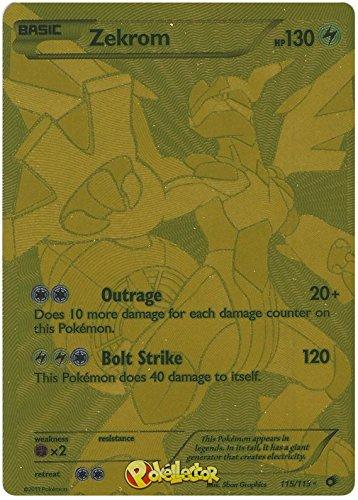 Pokemon - Tarjeta coleccionable - Zekrom Ex 115/113 Blanco y Negro (B&W) Legendary Treasures - Ultra Rare