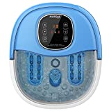 NURSAL Foot Spa Massager Basin Feet Soaking Tub Foot Salt Scrub with Heat 11 Massaging Rollers and Bubbles Massage, Promotes Blood Circulation, Improves Metabolism, Stress Relief for Fatigue Size 10