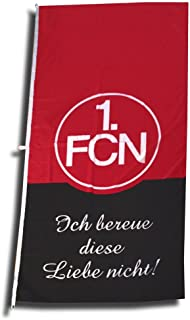 1. FC Nürnberg FCN Hissfahne Fahne 120cm x 250cm Fanaktion