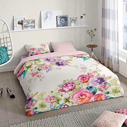 Good Morning! Bettwäsche Fleurs Multi 1 Bettbezug 200 x 200 cm + 2 Kissenbezüge 80 x 80 cm