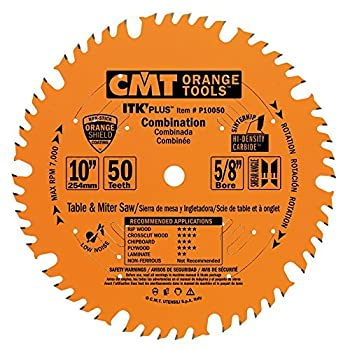 CMT P10050 ITK Plus Combination Saw Blade 10 x 50 Teeth 1FTG+ 4ATB Teeth with Shear with 5/8-Inch bore