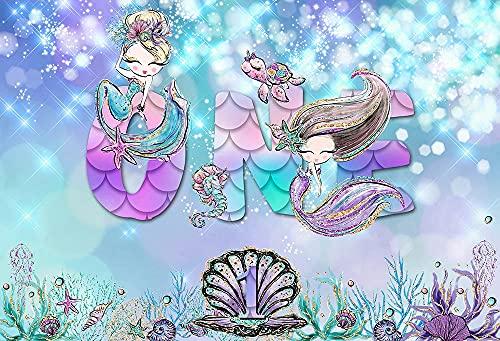 Fondos de la Sirenita para fotografía Princesa Fiesta de cumpleaños Fondos de...