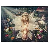 5DDIYクロスステッチダイヤモンドモザイク天使妖精少女刺繡すべてドリル壁紙リビングルームの装飾スクエア30 * 40