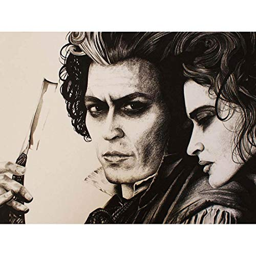 Wee Blue Coo Sweeny Todd Johnny Depp Wayne Maguire Unframed Wall Art Print Poster Home Decor Premium