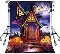HD ハロウィーンパーティーの写真撮影のための悪魔の小屋の背景不気味なハロウィーンのテーマの背景 7X10ft LSMT1090