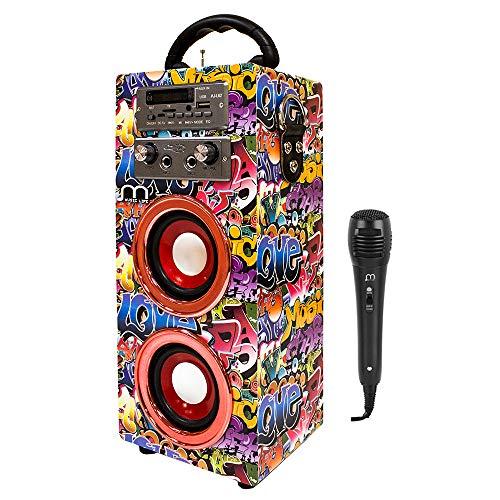 Music Life Altavoz Karaoke con Micrófonos Portátil inalámbrico...