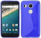 ENERGMiX Silikon Hülle kompatibel mit LG Google Nexus 5X Tasche Hülle Gummi Schutzhülle Zubehör in Blau