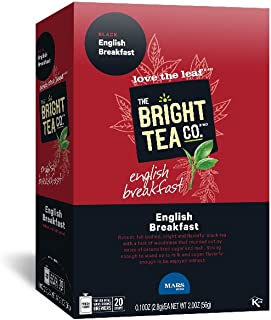 THE BRIGHT TEA CO., English Breakfast Tea Freshpacks for MARS DRINKS FLAVIA Brewer, 20 Packets