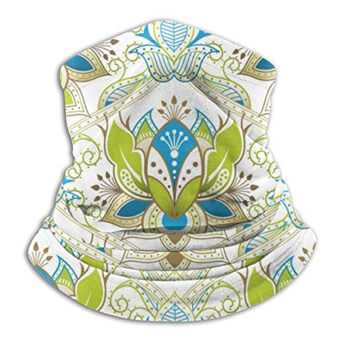 KDU Fashion Neck Gaiter, Oosterse bloemenpatroon halswarmer, multifunctionele sjaal hoofdbanden voor motorrijden skivissen